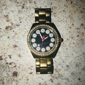 Betsey Johnson flower watch